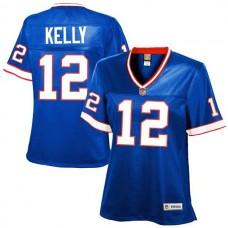 Women's Buffalo Bills #12 Jim Kelly Royal Blue Retired Player Jersey