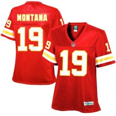 Women's Kansas City Chiefs #19 Joe Montana Red Retired Player Jersey