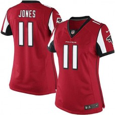 Women's Atlanta Falcons #11 Julio Jones Red Limited Jersey