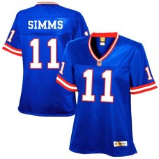 Women's New York Giants #11 Phil Simms Royal Blue Retired Player Jersey