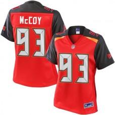 Women's Pro Line Gerald McCoy Red Tampa Bay Buccaneers #93 Jersey