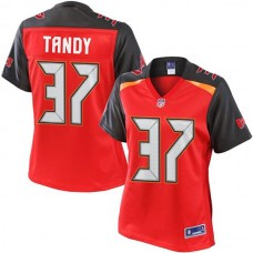 Women's Pro Line Keith Tandy Red Tampa Bay Buccaneers #37 Jersey