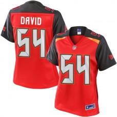 Women's Pro Line Lavonte David Red Tampa Bay Buccaneers #54 Jersey