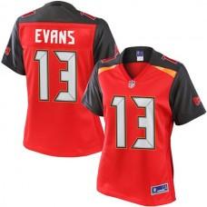 Women's Pro Line Mike Evans Red Tampa Bay Buccaneers #13 Jersey