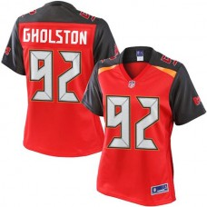 Women's Pro Line William Gholston Red Tampa Bay Buccaneers #92 Jersey