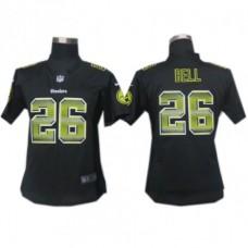 Women's Pittsburgh Steelers #26 Le'Veon Bell Black Fashion Strobe Jersey