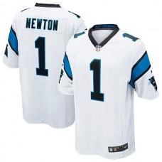 Youth Carolina Panthers #1 Cam Newton White Game Jersey