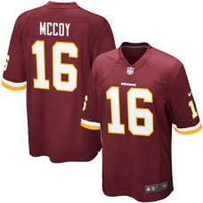 Youth Washington Redskins #16 Colt McCoy Team Color Game Jersey