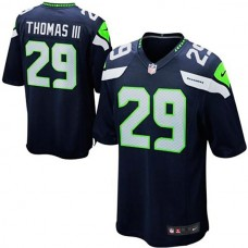 Youth Seattle Seahawks #29 Earl Thomas College Navy Team Color Game Jersey
