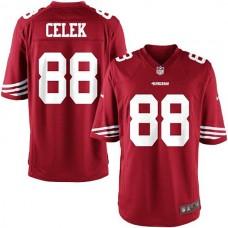 Youth San Francisco 49ers #88 Garrett Celek Team Color Game Jersey - Scarlet