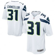 Youth Seattle Seahawks #31 Kam Chancellor White Game Jersey