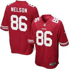 Youth San Francisco 49ers #86 Kyle Nelson Team Color Game Jersey