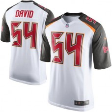Youth Tampa Bay Buccaneers #54 Lavonte David White Game Jersey