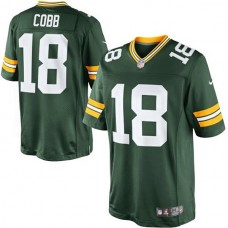 Youth Green Bay Packers #18 Randall Cobb Green Limited Jersey