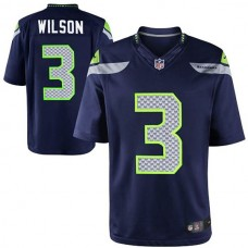 Youth Seattle Seahawks #3 Russell Wilson College Navy Limited Jersey