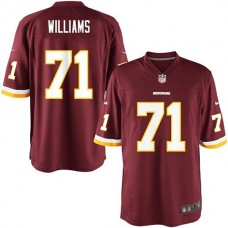 Youth Washington Redskins #71 Trent Williams Team Color Game Jersey