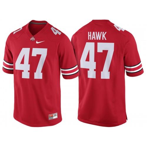 low priced 516a0 1e67b A.J. Hawk #47 Ohio State Buckeyes Scarlet College Football ...