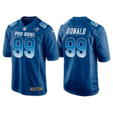 2018 Pro Bowl NFC Los Angeles Rams #99 Aaron Donald Royal Game Jersey