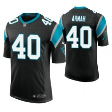 Carolina Panthers #40 Alexander Armah Black Vapor Untouchable Limited Player Jersey