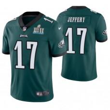Philadelphia Eagles #17 Alshon Jeffery Green Super Bowl LII Champions Limited Jersey