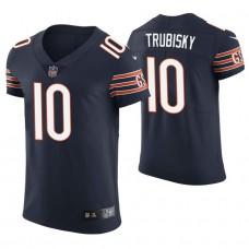 Chicago Bears #10 Mitchell Trubisky Navy Elite Jersey