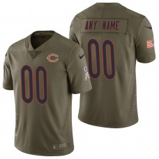 Chicago Bears Olive 2017 Salute to Service Limited Customized Jersey