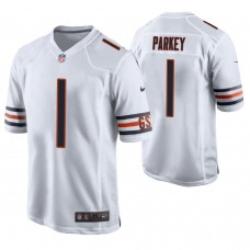 Chicago Bears #1 Cody Parkey White Game Jersey