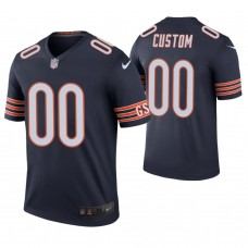 Chicago Bears # Navy Color Rush Legend Customized Jersey