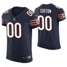 Chicago Bears Navy Elite Customized Jersey