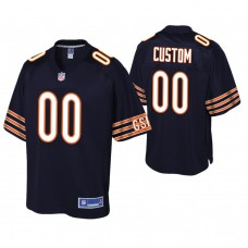 Youth Chicago Bears Navy Player Pro Line Customized Jersey