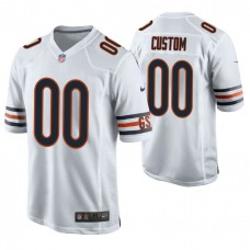 Chicago Bears White Game Customized Jersey