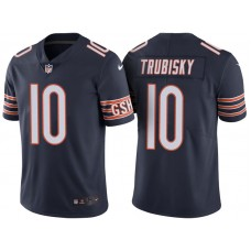 Chicago Bears #10 Mitchell Trubisky Navy Vapor Untouchable Color Rush Limited Jersey