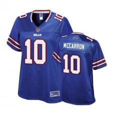Women's Buffalo Bills #10 AJ McCarron Royal Player Pro Line Jersey