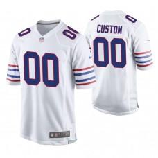 Buffalo Bills White Elite Customized Jersey