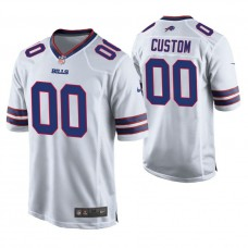 Buffalo Bills White Game Customized Jersey