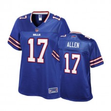 Women's Buffalo Bills #17 Josh Allen Royal Player Pro Line Jersey