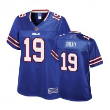 Women's Buffalo Bills #19 Quan Bray Royal Player Pro Line Jersey