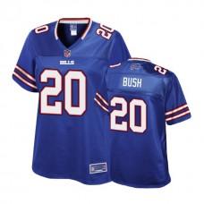 Women's Buffalo Bills #20 Rafael Bush Royal Player Pro Line Jersey