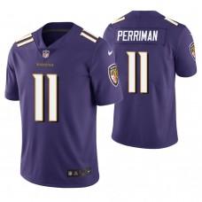 Baltimore Ravens #11 Breshad Perriman Purple Vapor Untouchable Limited Jersey