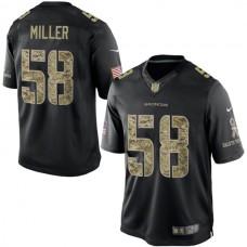 Denver Broncos #58 Von Miller Black Salute To Service Jersey