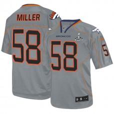 Denver Broncos #58 Von Miller Grey Lights Out Jersey