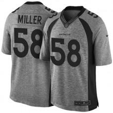 Denver Broncos #58 Von Miller Gridiron Gray Limited Jersey
