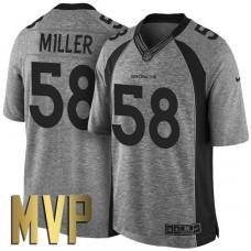 Denver Broncos #58 Von Miller MVP Gridiron Gray Limited Jersey