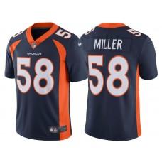2017 Denver Broncos #58 Von Miller Navy Vapor Untouchable Limited Jersey