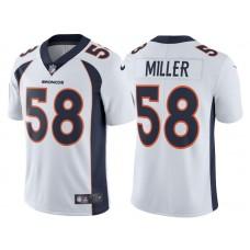 2017 Denver Broncos #58 Von Miller White Vapor Untouchable Limited Jersey