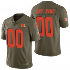 Cleveland Browns Olive 2017 Salute to Service Limited Customized Jersey