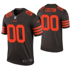Cleveland Browns Brown Color Rush Legend Customized Jersey