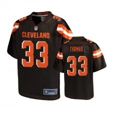 Youth Cleveland Browns #33 Simeon Thomas Brown Player Jersey