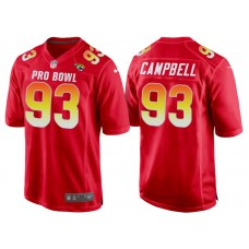 2018 Pro Bowl AFC Jacksonville Jaguars #93 Calais Campbell Red Game Jersey
