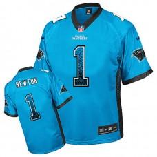 Carolina Panthers #1 Cam Newton Blue Drift Fashion Jersey